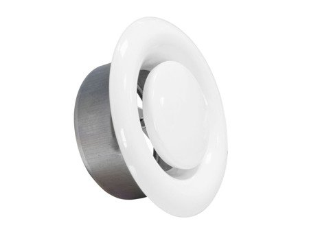 Anemostat metalowy wywiewny Ø125